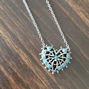 Vintage Sarah Coventry Heart Necklace